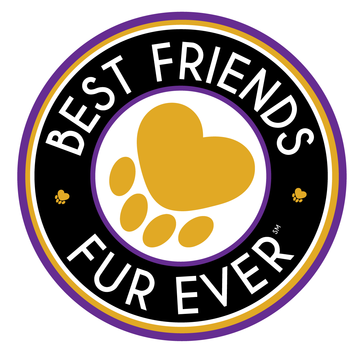 Best Friends Fur Ever Logo